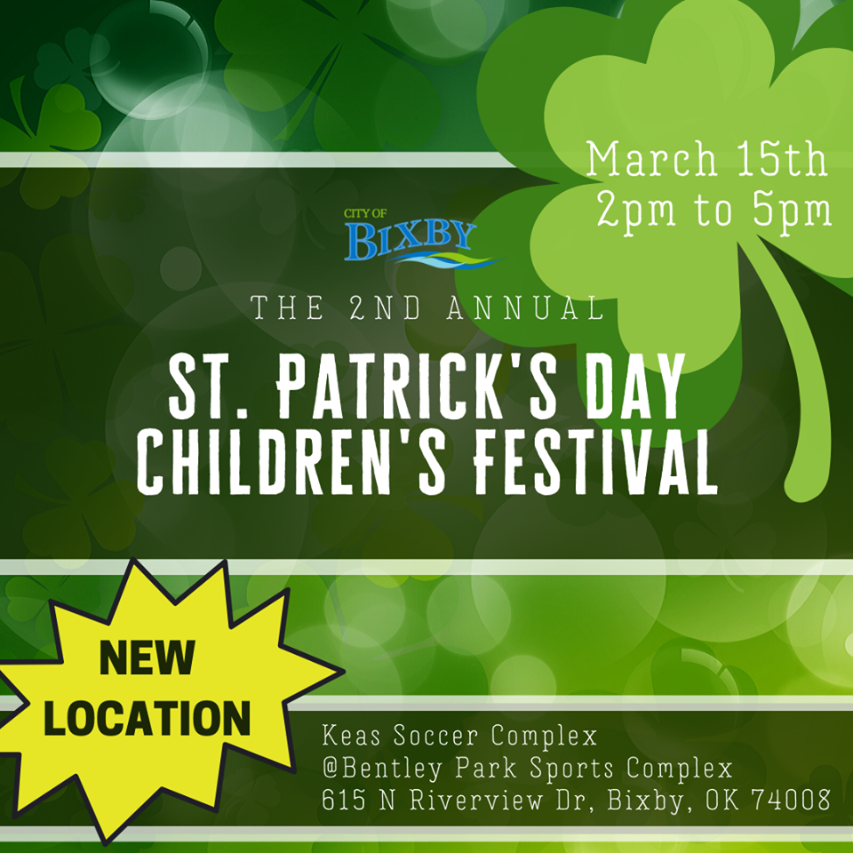St. Patricks Day Children's Festival 2020 Banner