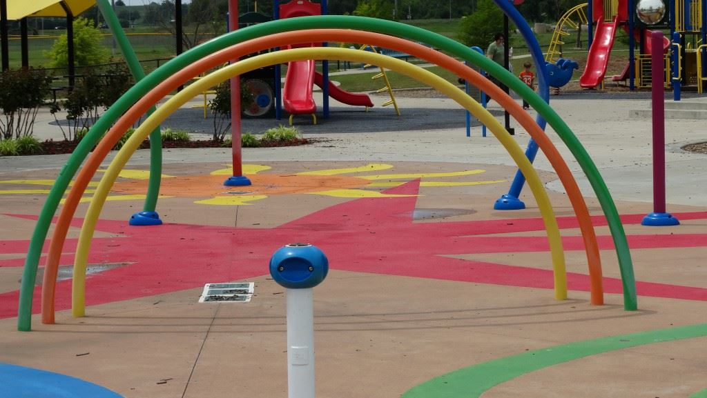 Splash Pad - water area